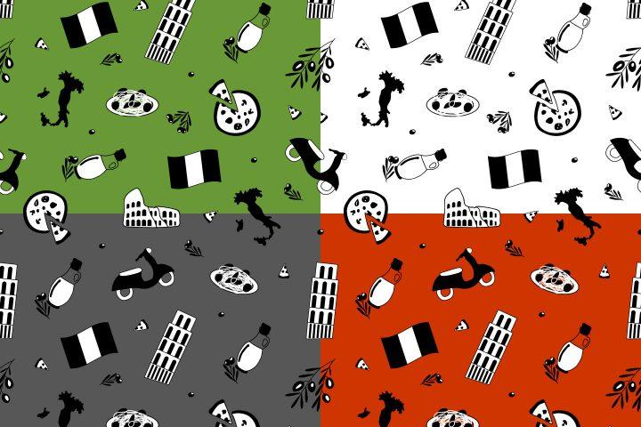 Italian Seamless Free Vector Pattern
