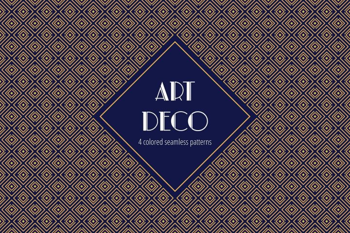 Art Deco Vector Free Pattern