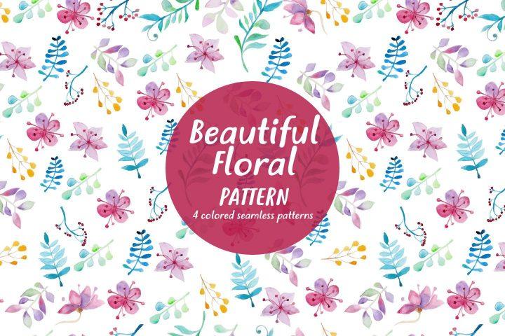 Beautiful Floral Watercolor Free Pattern