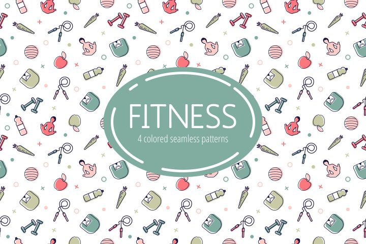 Free Fitness Vector Pattern