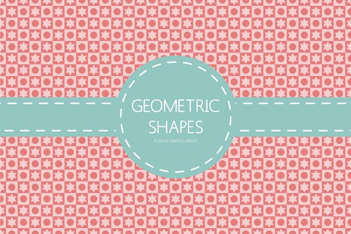Seamless Geometric Shapes Free Pattern