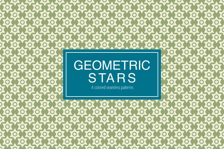 Seamless Geometric Stars Free Pattern