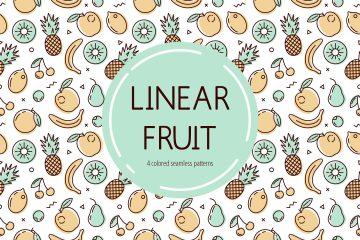 Free Fruit Vector Pattern