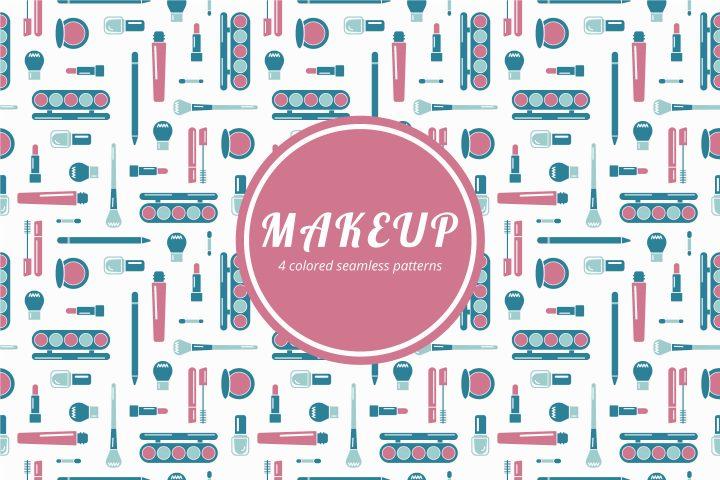 Makeup Vector Free Seamless Pattern