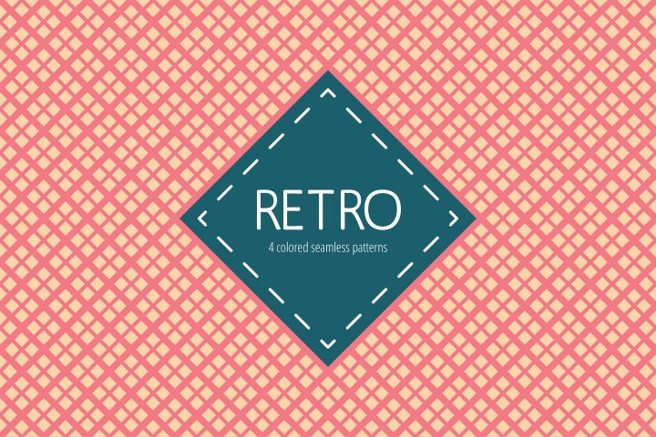 Retro Vector Seamless Free Pattern