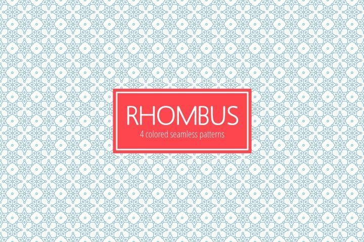 Rhombus Seamless Vector Free Pattern