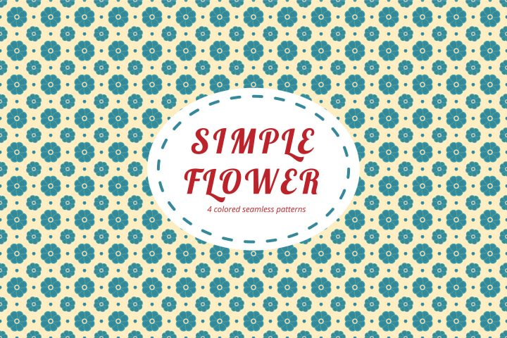 Simple Flower Free Seamless Pattern