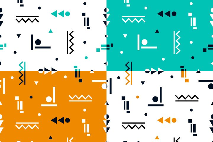 Simple Geometric Shapes Vector Free Pattern