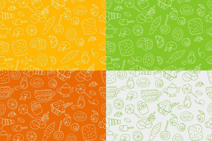Sweets Vector Seamless Free Pattern