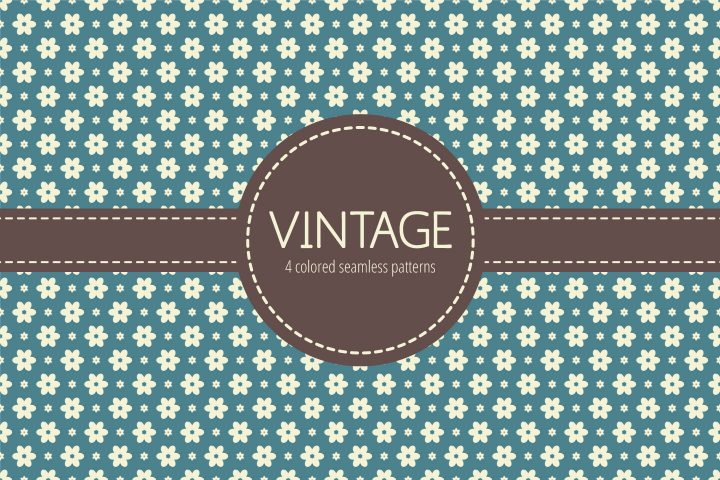 Vintage Vector Seamless Free Pattern