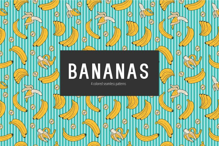 Bananas Vector Free Seamless Pattern