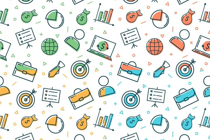 Business Vector Seamless Free Pattern