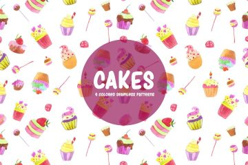 Cakes Watercolor Vector Seamless Free Pattern