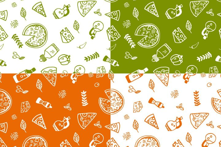 Pizza Vector Seamless Free Pattern