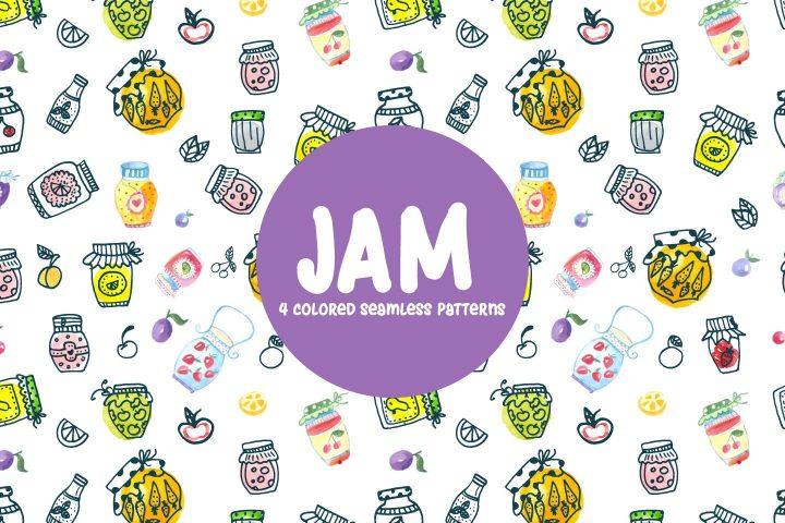 Watercolor Jam Vector Seamless Free Pattern
