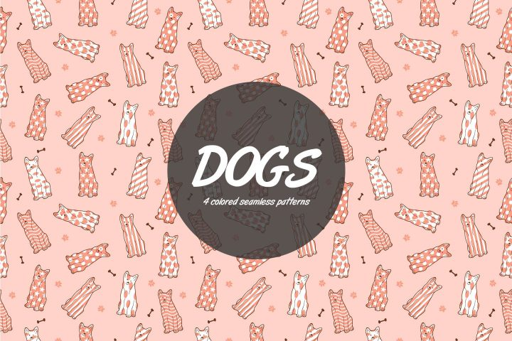 Dog Vector Free Seamless Pattern