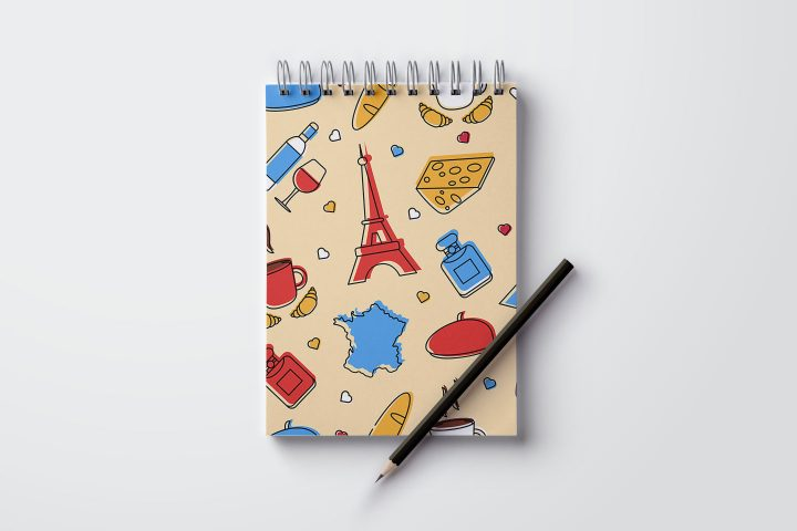 France Free Seamless Pattern