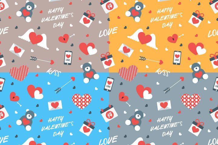 Happy Valentine's Day Free Vector Pattern