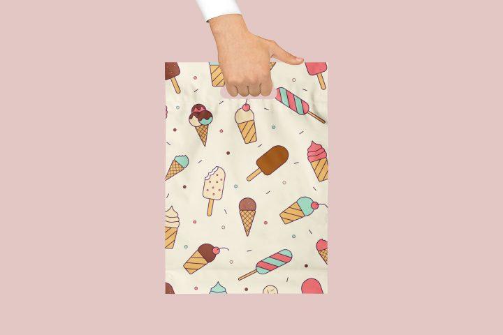 Ice Cream Vector Free Seamless Pattern