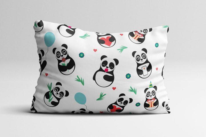 Panda Vector Free Seamless Pattern