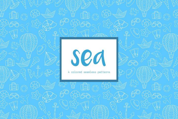 Sea Vector Seamless Free Pattern