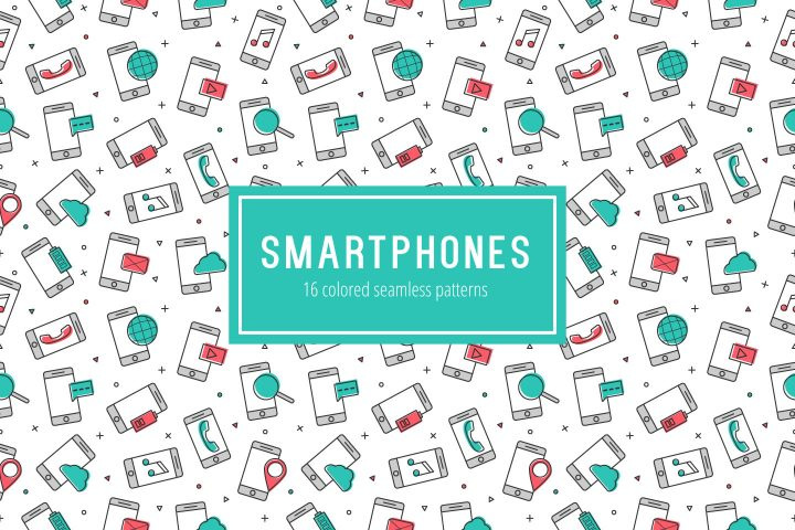 Smartphones Vector Free Seamless Pattern