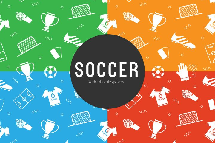 Soccer Vector Free Seamless Pattern
