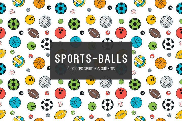 Sport Balls Free Vector Seamless Pattern