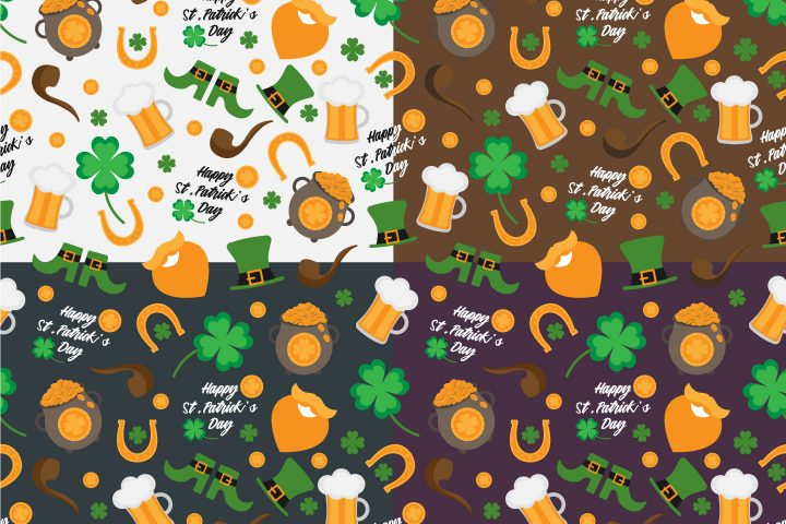St. Patrick's Day Free Vector Pattern