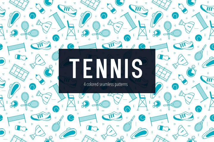 Tennis Vector Free Seamless Pattern