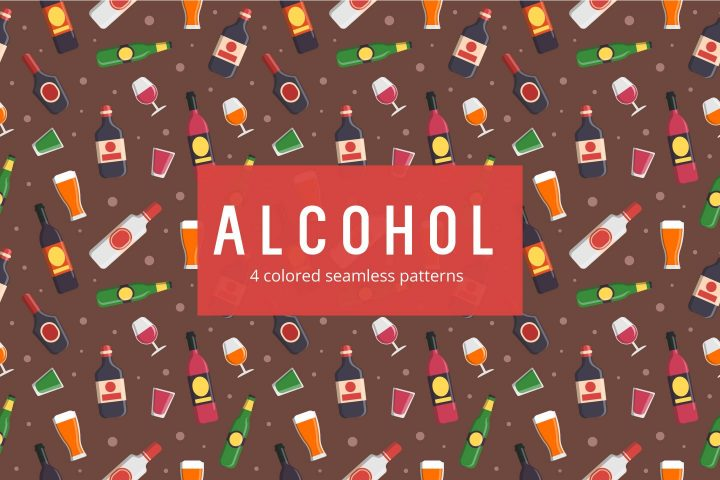 Alcohol Vector Free Pattern