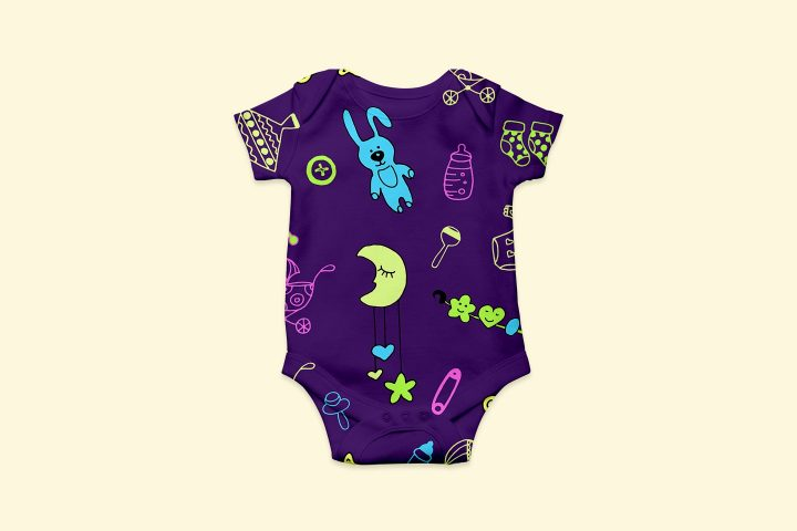 Baby Items Vector Seamless Free Pattern