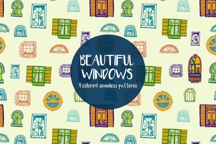 Beautiful Windows Vector Seamless Free Pattern
