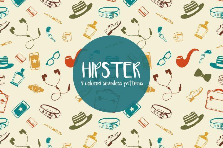 Hipster Illustration Vector Free Pattern