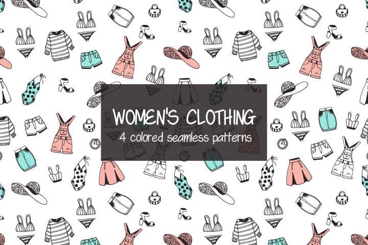Women's Clothing Illustration Vector Free Pattern
