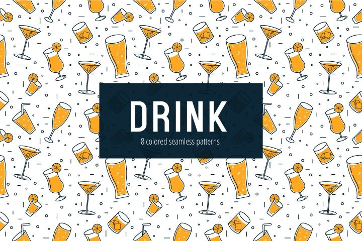 Drink Vector Free Seamless Pattern