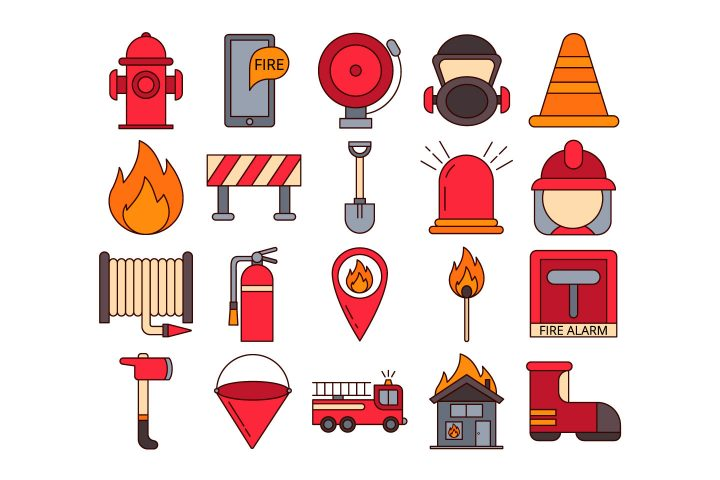 Firefighter Vector Free Icon Set