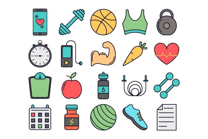 Fitness Vector Free Icon Set