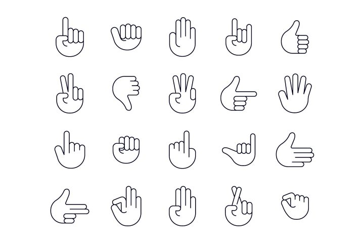 Hands Vector Free Icon Set