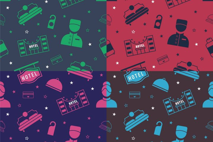 Hotel Vector Free Seamless Pattern