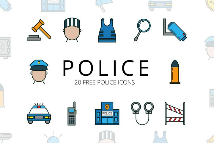Police Vector Free Icon Set