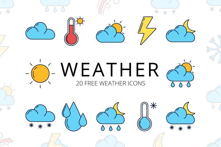 Weather Free Vector Icon Set