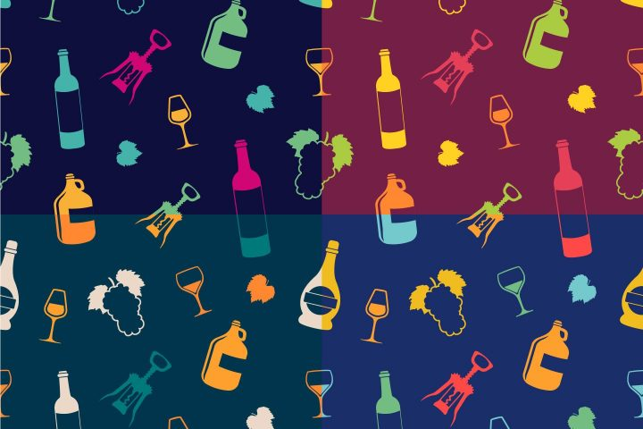 Wine Vector Free Seamless Pattern