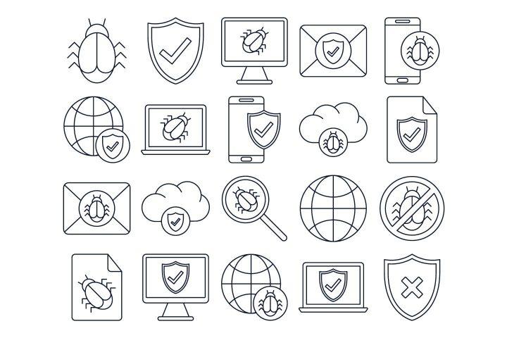 Antivirus Vector Free Icon Set