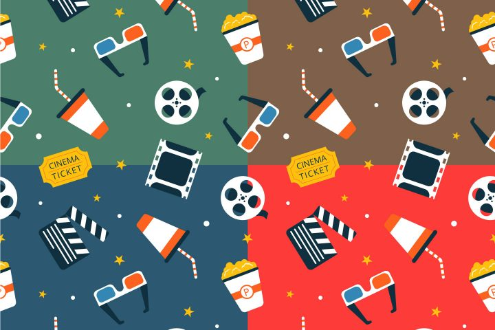 Cinema Vector Free Seamless Pattern
