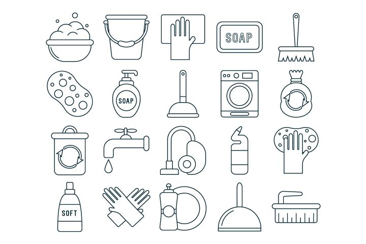 Cleaning Vector Free Icon Set
