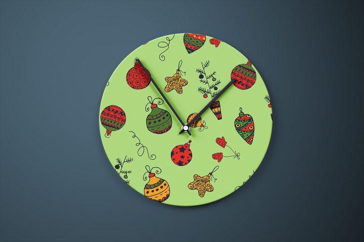 Christmas Toys Illustration Vector Free Pattern