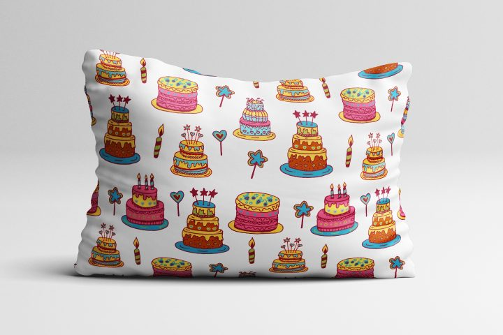 Birthday Cake Illustration Vector Free Pattern