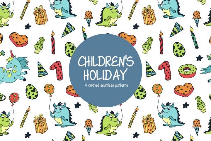 Children's Holiday Free Vector Pattern