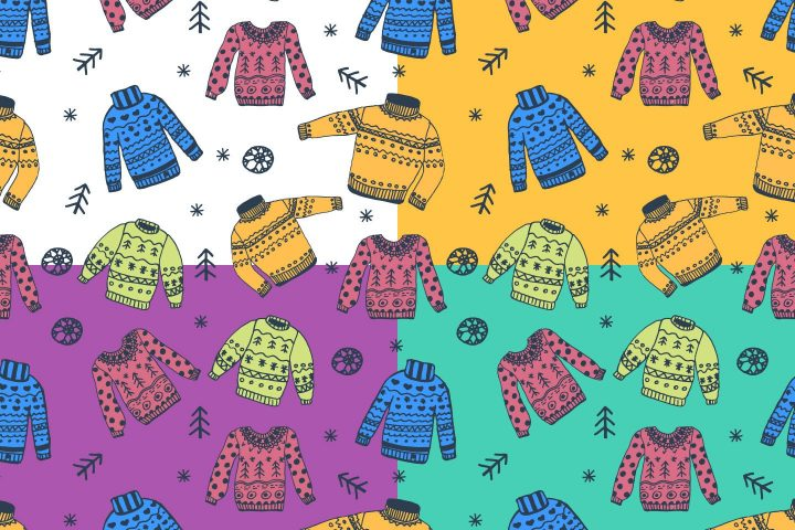 Colored Sweaters Illustration Vector Free Pattern